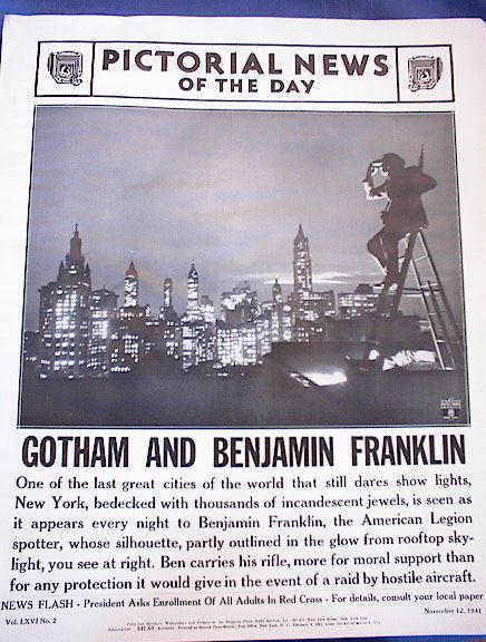 GOTHAM AND BENJAMIN FRANKLIN PHOTO 1941