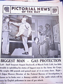 PHOTO OF J.EDGAR HOOVER WITH GAS PROTECTION