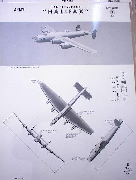 HALIFAX U.K. HEAVY BOMBER DEC.1942 ARMY RARE