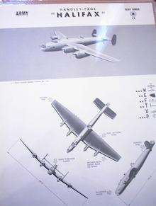 HANDLEY-PAGE 'HALIFAX' U.K. HEAVY BOMBER.RARE