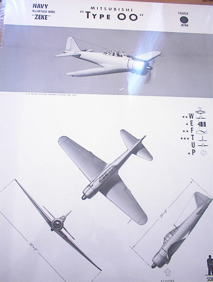 MITSUBISHI 'TYPE OO' JAPAN FIGHTER 1943 RARE