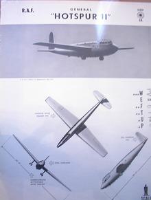 . GENERAL 'HOTSPUR II' U.K.GLIDER.1944 RARE