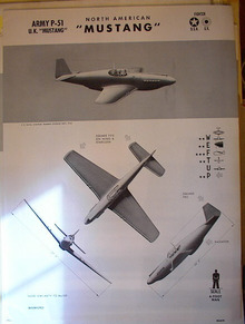 TRAINING POSTER OF A NORTH AMERICAN MUSTANG