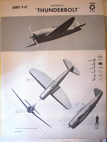 TRAINING POSTER OF A REPUBLIC THUNDERBOLT