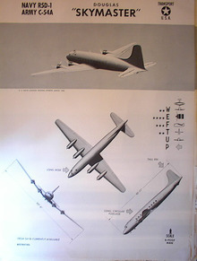 TRAINING POSTER OF A DOUGLAS 'SKYMASTER' 1943