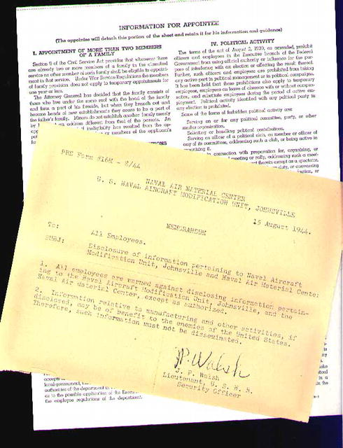 FORRESTAL Sec'y of Navy Signature & Others