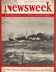 British U-Boat Hunter on Prowl Newsweek 1940