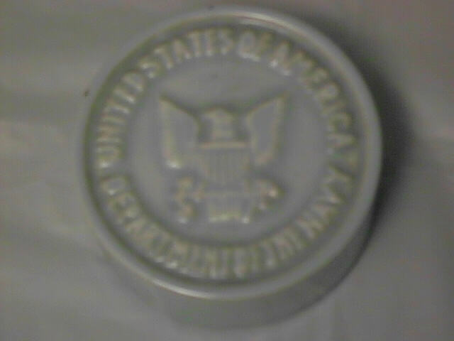 Department of Navy Ceramic Paperweight