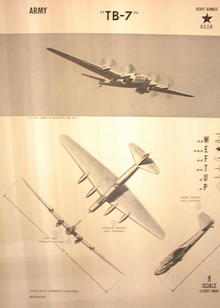 1944TRAING POSTER OF 'TB-7' HEAVEY BOMBER