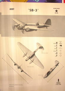 1944TRAING POSTER OF'SB-3'MEDIUM BOMBER PLANE