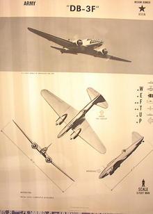 1944TRAING POSTER OF 'DB-3F'MEDIUM BOMBER