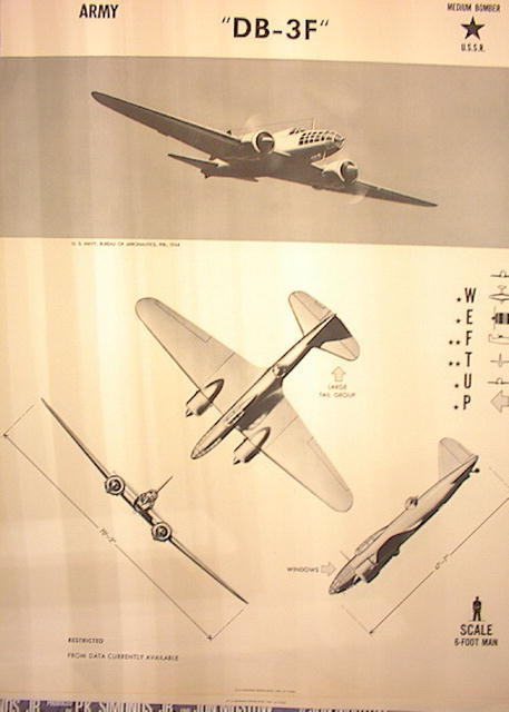 1944TRAING POSTER OF 'DB-3F'MEDIUM BOMBER
