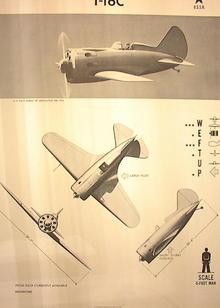 1944 TRAINING POSTER I-16C FIGHTER PLANE USSR