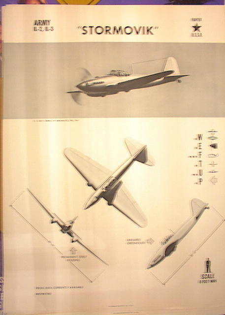 1944TRAING POSTER OF 'STORMOVK' FIGHTER PLANE