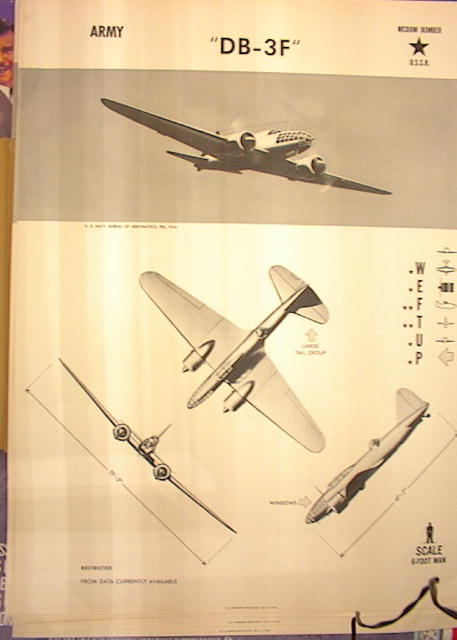 1944TRAING POSTER OF'DB-3F'MEDIUM BOMBER