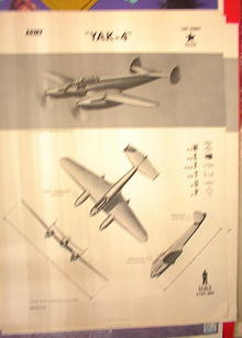 1944 TRAING POSTER OF 'YAK-4'LIGHT BOMBER