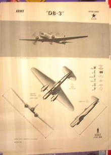 1944 TRAING POSTER OF'DB-3' MEDIUM BOMBER