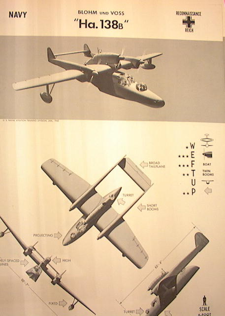 1944 TRAING POSTER OF 'HA.138B'RECONNAISSANCE