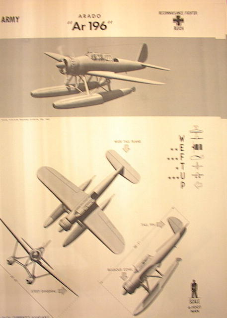 1944 TRAING POSTER OF'Ar196'RECONNISANCE FIGH