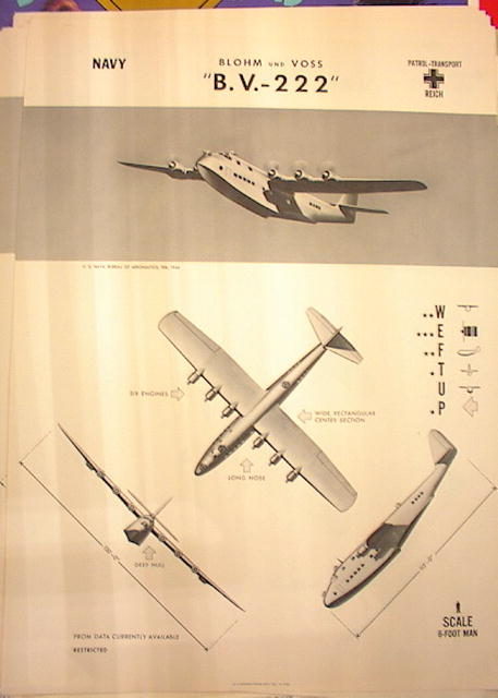 1944 TRAING POSTER OF'B.V.-222' PATROL-TRANS