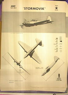 1944 TRAING POSTER OF 'STORMOVIK' FIGHTER