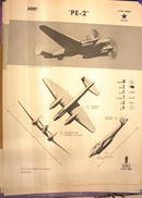 1944 TRAING POSTER OF 'PE-2' ATTACK BOMBER