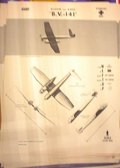 1944 TRAING POSTER OF 'B.V.-141'RECONNAISANCE