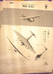 1944 TRAING POSTER OF'ME-323'TRANSPORT PLANE