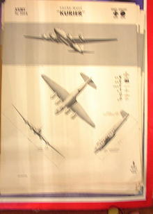 1942 TRAING POSTER OF'KURIER'BOMBER TRANSPORT
