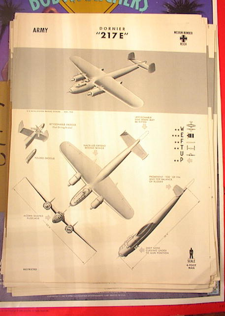 1942 TRAING POSTER OF '217 E'MEDIUM BOMBER