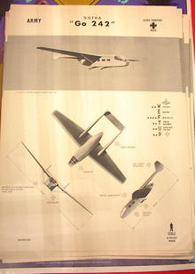1942 TRAING POSTER OF 'Go 242'GLIDER TRANSPOT