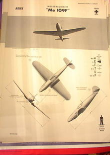 1942 TRAING POSTER OF 'Me 109F' FIGHTER PALNE