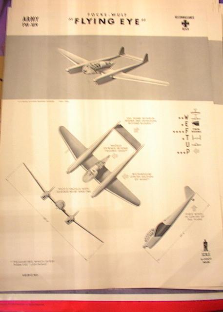 1942 TRAING POSTER OF 'FLYING EYE' RECONN
