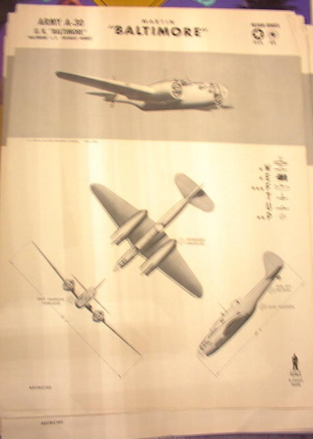 1942 TRAING POSTER OF'ARMY A-30'MEDIUM BOMBER