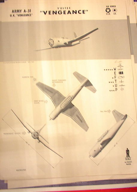 1942 TRAING POSTER OF ' ARMY A-31'DIVE BOMBER