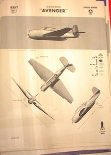 1942 TRAING POSTER OF 'TBF-1'TORPEDO BOMBER