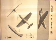 1942 TRAING POSTER OF 'P-39 E'FIGHTER PLANE