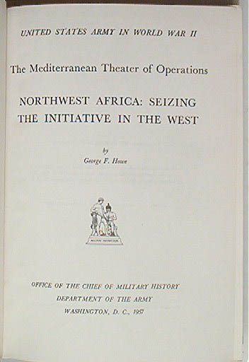 NW Africa Seizing the Initiative 1957 US Army