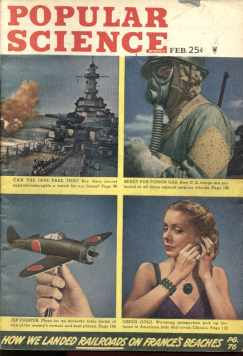 Popular Science 2/1945 WWII News & Inventions