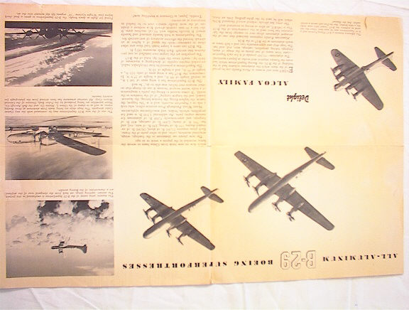 1944 ALCOA NEWS MAGAZINE GREAT B-29 PICTURES