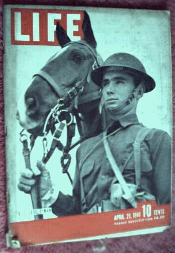 LIFE 4/1941 US Cavalryman WWII news, photos