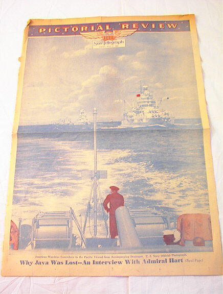 4/5/1942 PICTORIAL REVIEW AMERICAN WARSHIP