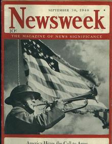 Newsweek, America Hears Call to Arms, 9/30/40