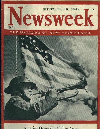 Newsweek, America Hears Call to Arms, 9/30/40