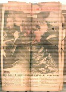 Normandie Burns at her Pier 3/15/42 newspaper