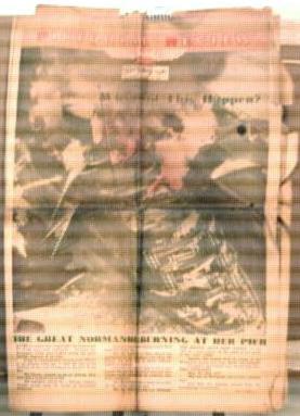 Normandie Burns at her Pier 3/15/42 newspaper