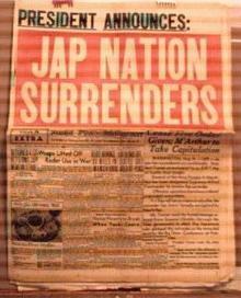 Seattle Post 8/15/1945 Japan Surrenders