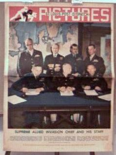 Allied Invasion Gen.Ike & Staff 5/1944 photo