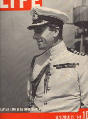 LIFE 9/15/41 CAPT. LORD LOUIS MOUNTBATTEN