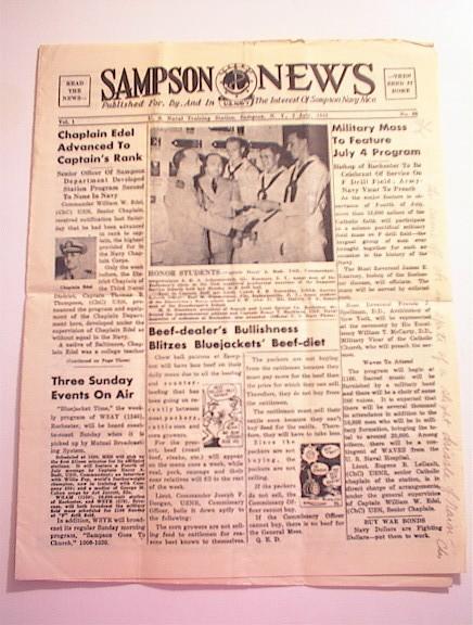 SAMPSON U.S. Navy News,7/2/1943,Chaplain Edel